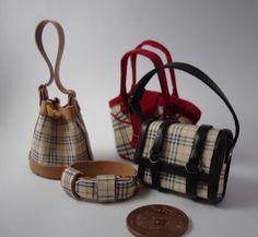 Miniaturas bolsos: Bolsos con estampado cuadro ingles