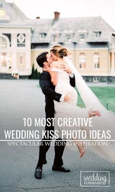 10 Most Creative Wedding Kiss Photos ❤ The Kiss is one of the most romantic parts of the #wedding. Check out our collection of what we consider some of the most creative wedding kiss photos. Photo by Sally Pinera http://sallypinera.com/ See more: http://www.weddingforward.com/10-most-creative-wedding-kiss-photos/ #weddingplanning #brides