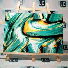 So green, so fresh) Artwork Prints, Canvas Art Prints, Palette Wall, Industrial Home Design, Colorful Abstract Art, Acrylic Artwork, Marble Print, Office Wall Decor, Decor Interior Design