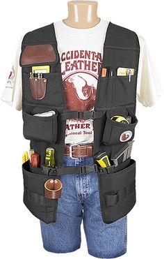 Electrician Tool Belt Bag Pouch Mechanic Vest Carpenter Apron 16 Pocket Apron N7
