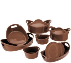 Rachael Ray Bubble & Brown 11-Piece Bakeware Set