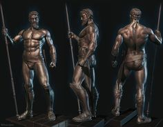 The ZBrush user gallery - showcasing the amazing artwork being shared by our ZBrushCentral community. Anatomy Reference, Art Reference, Anatomy Study, Zbrush, Character Poses, Character Design, Great Warriors, Spartan Warrior, Digital Sculpting