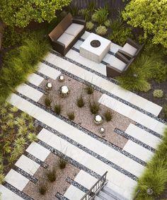 Interesting fussy modern garden by Arterra