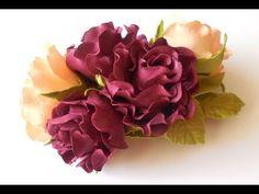 Цветы из фоамирана, мастер класс, простой способ создания украшения для волос. - YouTube