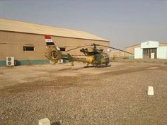Iraqi army aviation. SA Gazelle reconnaissance, and light utility helicopter.