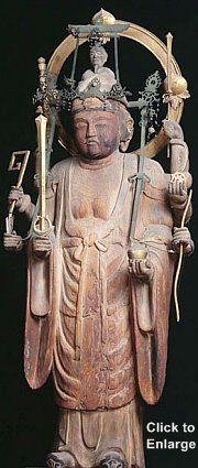 Happi Benzaiten, Kohonji Temple, Osaka, Late 10th Century Snake Goddess, Kamakura Period, Hina Matsuri, Amaterasu, Pilgrimage, Deities, Japanese Art, Buddhism, Palace
