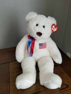 0e7bfd32ff1 Retired 19207  Ty Large Libearty Bear Beanie Buddie Mint W Mint Tag -  BUY  IT NOW ONLY   18.95 on  eBay  retired  large  libearty  beanie  buddie