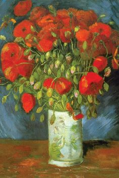 off Hand made oil painting reproduction of Vase With Red Poppies, one of the most famous paintings by Vincent Van Gogh. The Post-Impressionist artist Vincent van Gogh painted Vase with Red Poppies whil. Vincent Van Gogh, Van Gogh Museum, Art Van, Fleurs Van Gogh, Van Gogh Arte, Van Gogh Pinturas, Painting Prints, Art Prints, Van Gogh Paintings