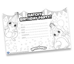 Hatchy Birthday Printables From Spin Master Hatchimals