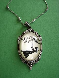 girl on swing pendant from {tinatarnoff} on Etsy