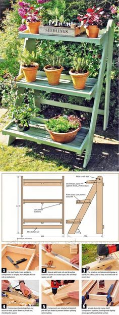 Ladder Planter Plans - Outdoor Plans and Projects   WoodArchivist.com