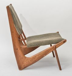 Anonymous; Teak Easy Chair, 1950's. (Dealer says Peter Hvidt, but I'm doubtful.)
