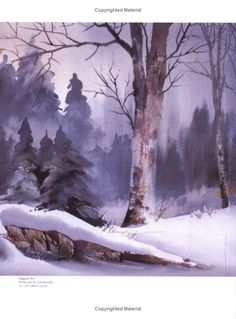 Zoltan Szabo's Color-By-Color Guide to Watercolor: Zoltan Szabo: 9780891347729: Amazon.com: Books Winter Watercolor, Landscape Paintings, Watercolor Trees, Watercolor Landscape, 3d Art Drawing, Art Pictures, Winter Art, Watercolour Inspiration, Water Painting