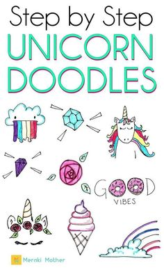 Drawing Doodles Ideas Step by step unicorn doodle tutorial for your bullet journal or planner Bullet Journal For Kids, Bullet Journal For Beginners, Bullet Journal Hacks, Bullet Journal How To Start A, Bullet Journal Themes, Bullet Journal Layout, Bullet Journal Inspiration, Bullet Journals, Doodle Art Journals