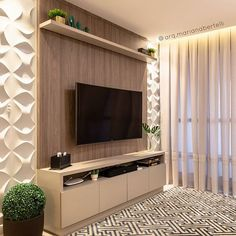 Amazing Modern TV Wall Decor Idea for Living Room Design Look Luxury - If you don& find out how to decorate the wall supporting the bed, and you feel a perplexed in - Small Wall Decor, Tv Wall Decor, Small Living Rooms, Living Room Decor, Tv Unit Furniture Design, Tv Wanddekor, Living Room Tv Unit Designs, Modern Tv Wall Units, Sala Grande
