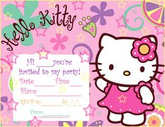 Hello kitty printable birthday invitations hello kitty invitations hello kity party pics hello kitty printable birthday party invitations free download get filmwisefo Image collections