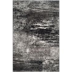 Adirondack Silver/Black 4 ft. x 6 ft. Area Rug