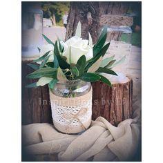 Στολισμός γάμου με ελιά και λευκό τριαντάφυλλο...Wedding decoration...olive & rose.... Κορμοί κ γήινα χρώματα... weddind decoration details... Plants, Plant, Planets