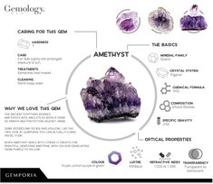 Amethyst is February's birthstone, but what else can we learn about this most royal and regal of gemstones? Join us for an in depth exploration of Amethyst information. Amethyst Bracelet, Amethyst Jewelry, Amethyst Gemstone, Minerals And Gemstones, Rocks And Minerals, Healing Gemstones, Crystal Healing Stones, Stones And Crystals, Charge Crystals