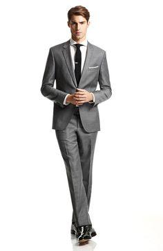 BOSS Black Suit & Eton Dress Shirt | Nordstrom #nordstromweddings