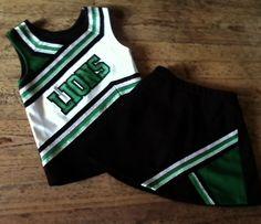 LIONS REAL Cheerleading Cheerleader Uniform Top Skirt. Adult XS 0 2 4. $27.00.