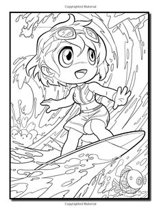 Chibi Girls 2 A Cute Coloring Book With Adorable Playful Scenes And