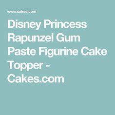 Disney Princess Rapunzel Gum Paste Figurine Cake Topper - Cakes.com