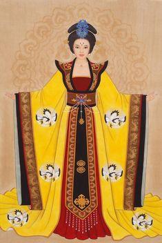 Wu Zetian, Dress Design Sketches, Fashion Design Sketches, Chinese Culture, Chinese Art, Chinese Painting, Thai Fashion, Anime Drawings Sketches, Women In History