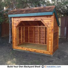 4x8 Firewood Shed by iCreatables. This firewood storage shed is built in Texas!