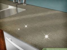 How to Clean Granite Countertops. Although granite countertops have become a popular choice for many homeowners, you may be unsure of how to properly clean and maintain the stone's surface. Cleaning Granite Countertops, Cheap Countertops, Concrete Countertops, Kitchen Countertops, How To Clean Brick, How To Clean Granite, Countertop Materials, Decorating Blogs, House Design
