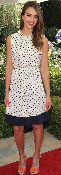 Jessica Alba in Tory Burch