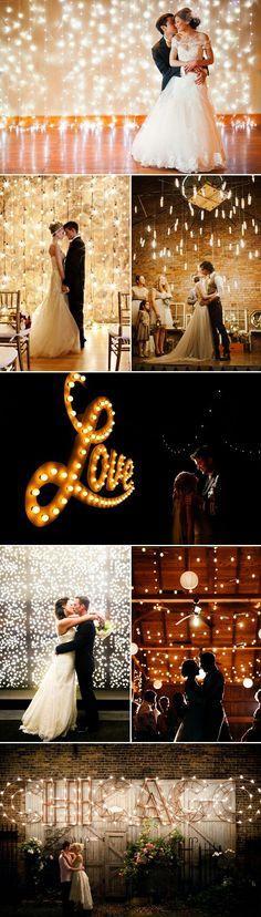 LED wedding backdrop