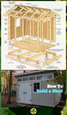 ✅🏠 shed plans! Start building amazing sheds the easier way, with a collection of shed plans! Wood Shed Plans, Shed Building Plans, Diy Shed Plans, Dyi Shed, Garden Shed Diy, 10x12 Shed Plans, Lean To Shed Plans, Backyard Sheds, Outdoor Sheds