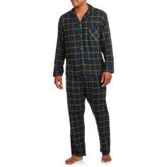 Hanes Big Men's Flannel Pajama Set, Size: 5XL, Green