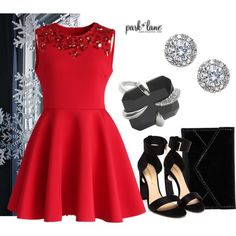 """Holiday Red"" by parklanejewelry on Polyvore"