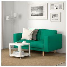 IKEA - NORSBORG Loveseat Edum bright green, birch