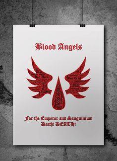 Blood Angels Warhammer 40K by ZsaMoDesign