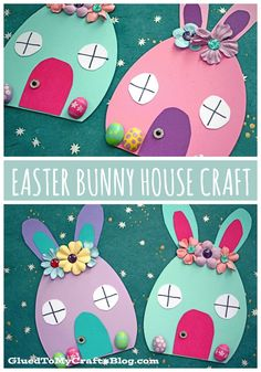 Craft Foam Egg Easter Bunny House Crafts For Children - Crafts ., Craft Foam Egg Easter Bunny House Crafts For Children - Craft Foam Egg Easter Bunny House Crafts For Children - Easter Craft Activities, Easter Crafts For Toddlers, Easter Arts And Crafts, Easter Egg Crafts, Spring Crafts For Kids, Bunny Crafts, Foam Crafts, Easter Crafts For Kids, Craft Foam