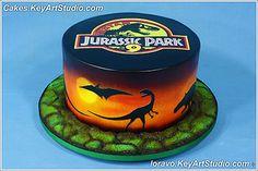 jurassic-park-cake | by Cakes.KeyArtStudio.com