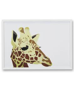 giraf plakat af Rikke Andersen