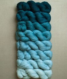 Cashmere Ombré Wrap | The Purl Bee beautiful blues - yarn