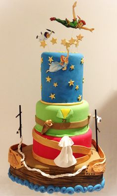 Peter Pan birthday cake