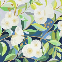 ClaireI Shino Painting Inspiration, Art Inspo, Gouache Painting, Floral Illustrations, Botanical Art, Art Images, Original Paintings, Artsy, Art Prints