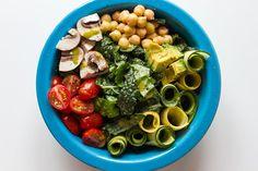 summer veggie salad with garden herb dressing >> edible perspective