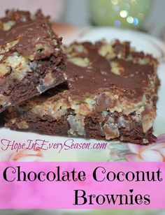 Chocolate Coconut Brownies for the Homemaking Party