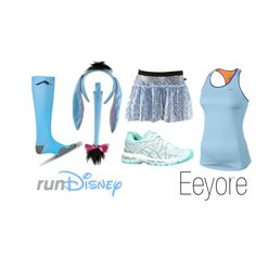 """""""Disney Eeyore Running Outfit"""" by mamaspartydress on Polyvore"""