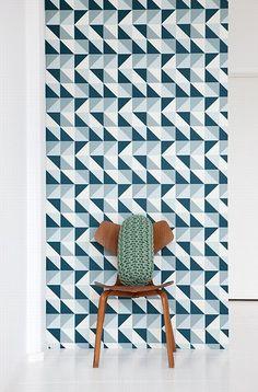 Scandinavian wallpaper - this pattern would be a great little boy quilt!