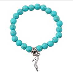 Bohemian turquoise bracelet Bohemian Bracelets, Bracelets For Men, Bangle Bracelets, Bangles, Bohemian Shoes, Hand Bracelet, Bracelet Men, Stone Bracelet, Stretch Bracelets