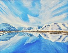 Maskinonge Waterton Lakes Winter Reflection by Brian Sloan The original and fine art prints are available! Waterton Lakes National Park, Original Paintings, Original Art, Reflection Art, Thing 1, Impressionism Art, Texture Painting, Winter Scenes, Stretched Canvas Prints