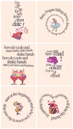 Quotes alice in wonderland cheshire cat mad hatter Alicia Wonderland, Alice And Wonderland Quotes, Alice In Wonderland Tea Party, Adventures In Wonderland, Alice In Wonderland Printables, Disney Love, Disney Art, We All Mad Here, Mad Hatter Tea